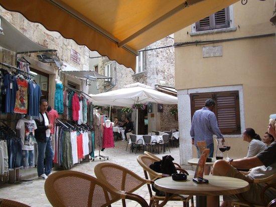 shops, bar and place to eat yards from Villa Valdibora