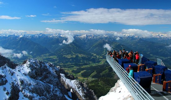 Ramsau am Dachstein, Austria: The view from the cablecar station.