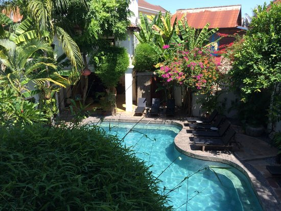 Rambutan Resort - Siem Reap: View of the Pool from our balcony