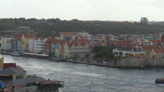 View of Punda from the cruise ship