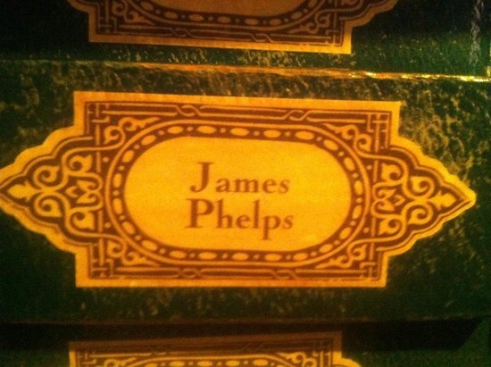 Warner Bros. Studio Tour London - The Making of Harry Potter: jame's phelps wand box.