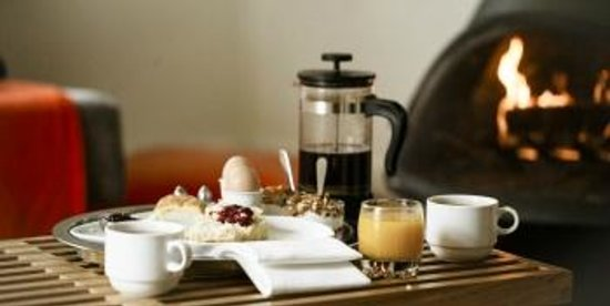 boon hotel & spa: boon breakfast brought right to your room every morning!