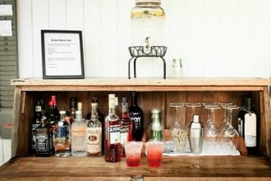 boon hotel & spa: the boon honor bar is always stocked