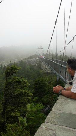 Grandfather Mountain Overlook: View Of The Bridge