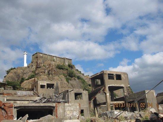 Hashima Island : 晴れてよかった