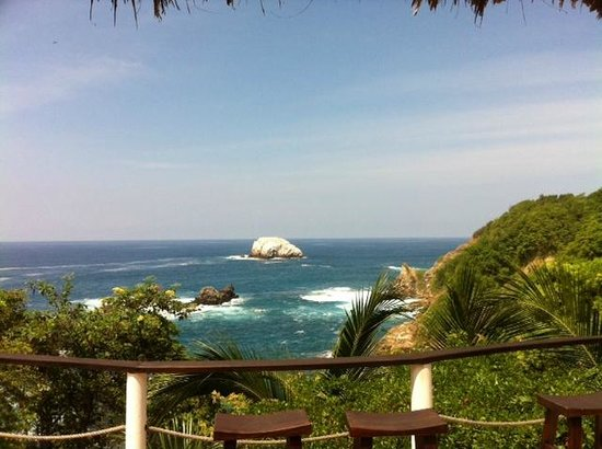 Casa Sol Zipolite: Aussicht von der Terrasse