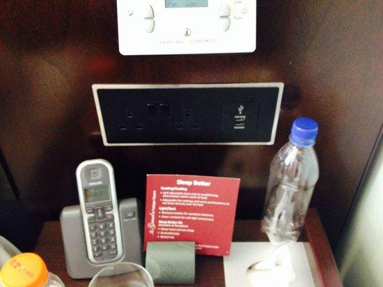 The Grand at Trafalgar Square: USB charging port and room temp conttrol