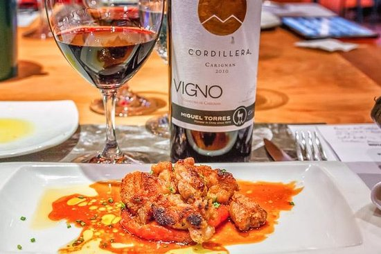 Miguel Torres Wine Restaurant : Mollejas (Sweetbreads) with Tomato Confit