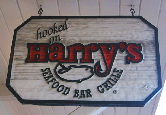 Harry's Seafood Bar and Grille : The Entrance Sign