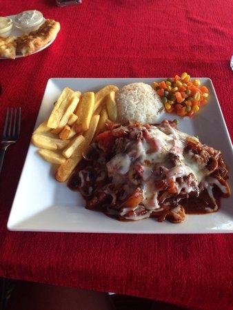 No Name Bar: Mexican steak yum yum ��