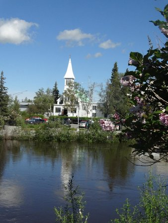 River's Edge Resort: The Tanana River flows by your cabins.
