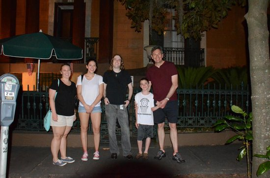 Haunted Savannah Tours: With our tour guide Jason, taking 7 photos
