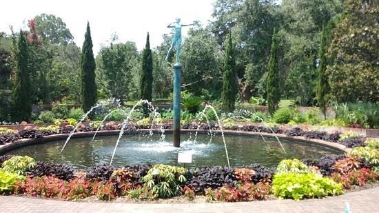 Brookgreen Gardens: One of the many garden fountains at Brookgreen garden, SC - July 2014