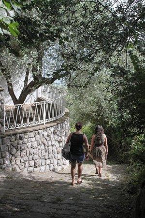 Hotel Villa Fiorita : path down to sorrento