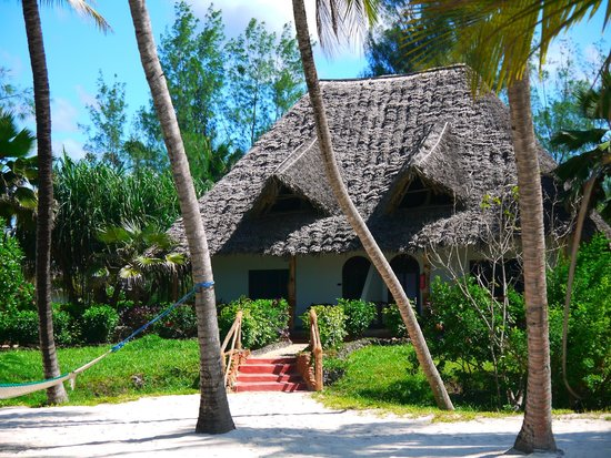 Pongwe Beach Hotel : Bungalow from the beach