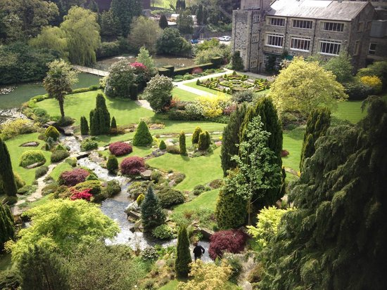Kilver Court Gardens from the viaduct