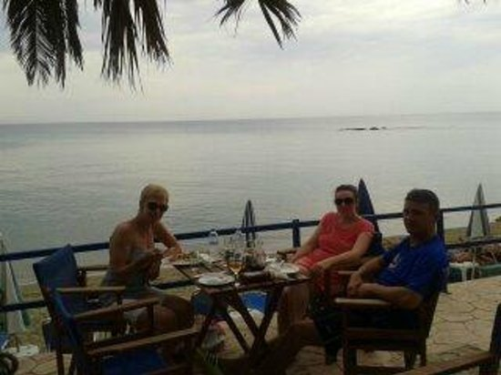 relaxing by the sea at Avgoustis