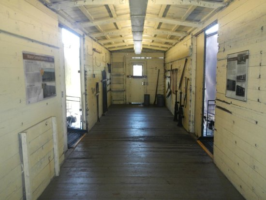 Georgia State Railroad Museum: One of the train cars