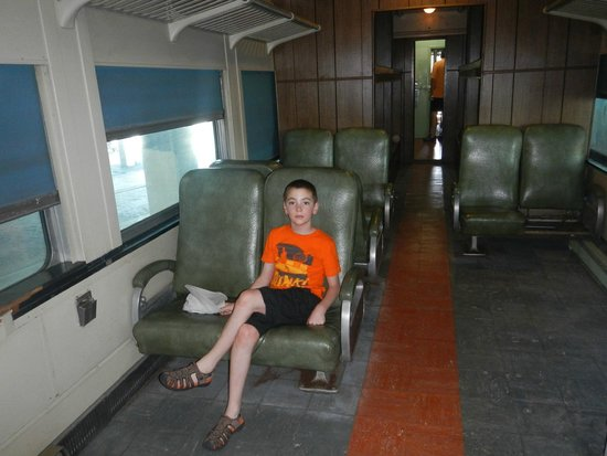 Georgia State Railroad Museum: Trying the seat