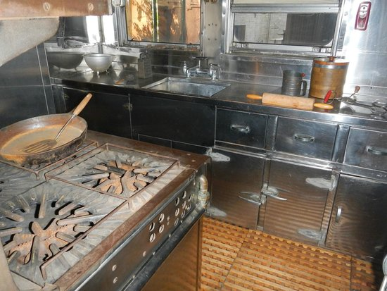 Georgia State Railroad Museum: Kitchen in executive car