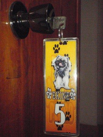 Hostal Pata de Perro: Llavero con nombre del cuarto