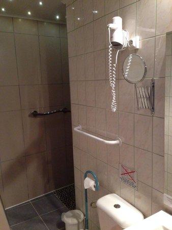 Auberge La Pomme de Pin : Salle de bain chambre 17