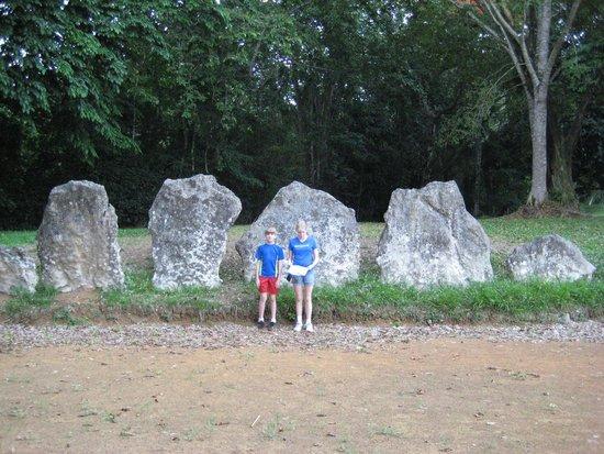 Parque Ceremonial Indigena de Caguana : Stones around large flat area for religious or sports event