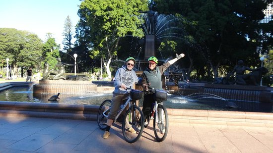 Bike Buffs - Sydney Bicycle Tours: Graeme (your leader) and Me.