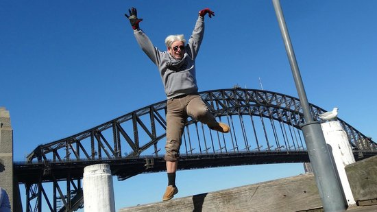 Bike Buffs - Sydney Bicycle Tours: Jumping for joy.