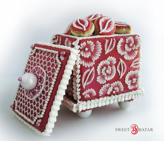 Cafe Batar: Completely Edible Cookie Boxes available in our sweets shop.