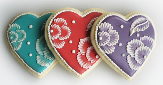 Cafe Batar: Porcelain Heart sugar cookies and other gourmet cookies are available in our sweets shop.