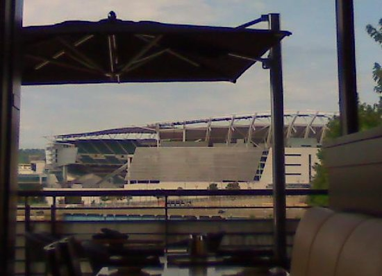 Moerlein Lager House: View of stadium from our seats