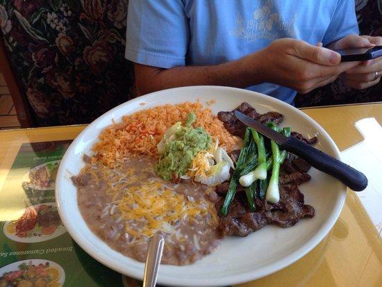 SOL De Mexico: Carne asada portion