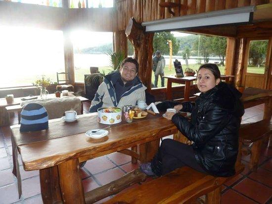 Los Baqueanos: Rico desayuno antes de la cabalgata