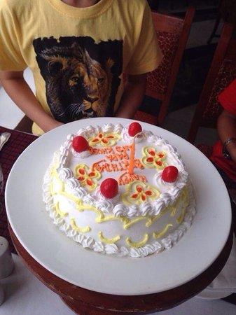 My son my birthday cake Made by Ramada Khajuraho Staff