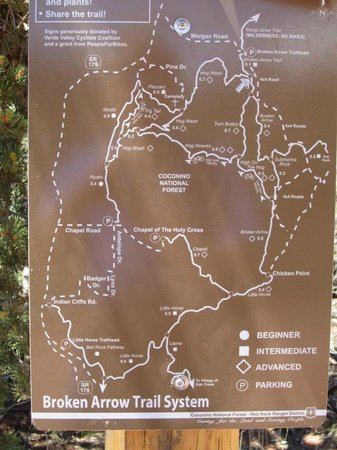 Hyatt Pinon Pointe: Map of local hiking trails