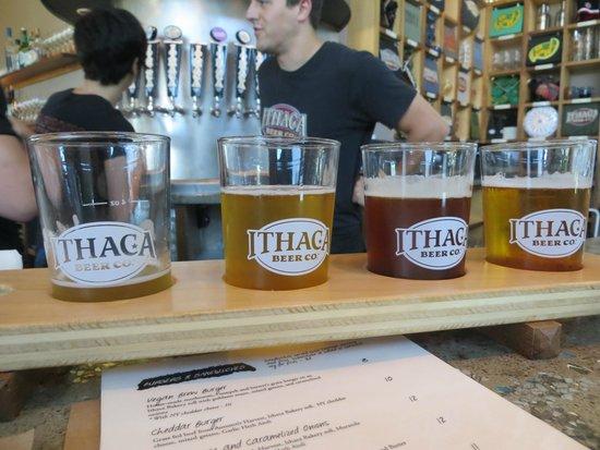Ithaca Beer Co.: Beer flight