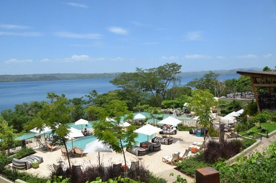 Andaz Peninsula Papagayo Resort: Over the main pool.