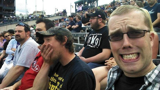Coors Field : Our seats and my ugly mug.
