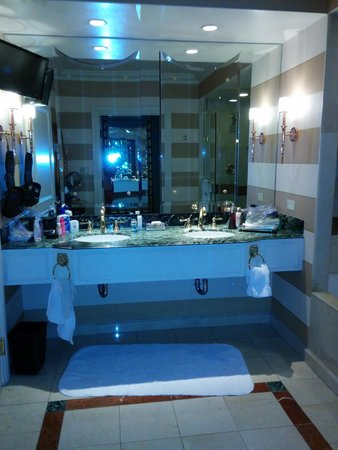 The Venetian Las Vegas : Bathroom, also had a vanity, huge tub, and separate shower. Toilet was in its own small room to
