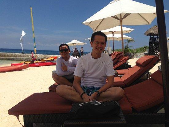 Crimson Resort and Spa, Mactan: Just loving the sun at the beach