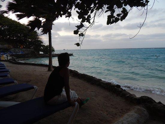 Hotel San Pedro de Majagua: Atardecer solo con el viento...