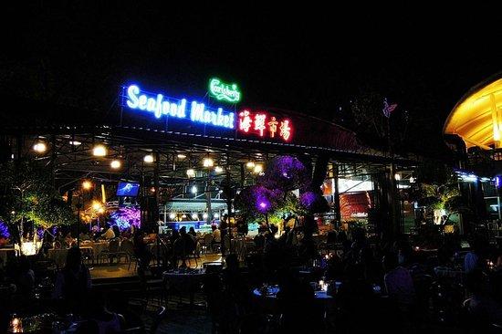 Danga Bay: Seafood market