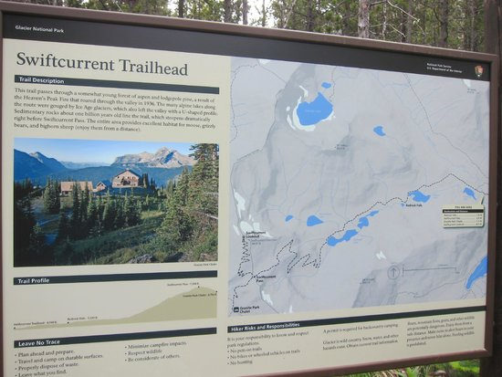 Swiftcurrent Motor Inn and Cabins: Hiking trail near Swiftcurrent Motor Inn
