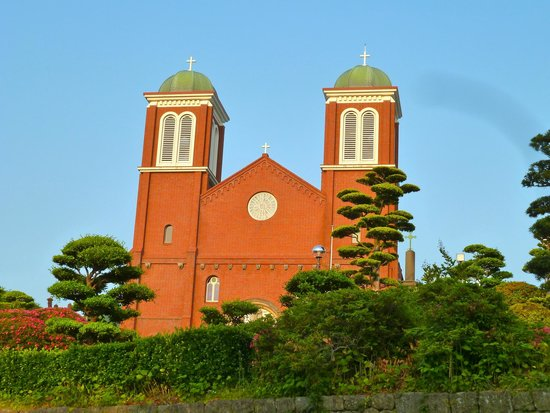 Nagasaki Catholic Center: Urakami Cathedral seen from Cathedral street