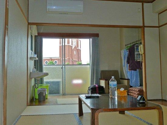 Nagasaki Catholic Center : Room 513 with view of Urakami Cathedral