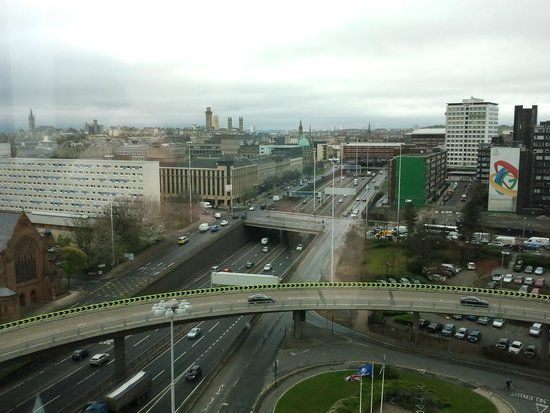 Hilton Glasgow: View from Family Room - April 2012