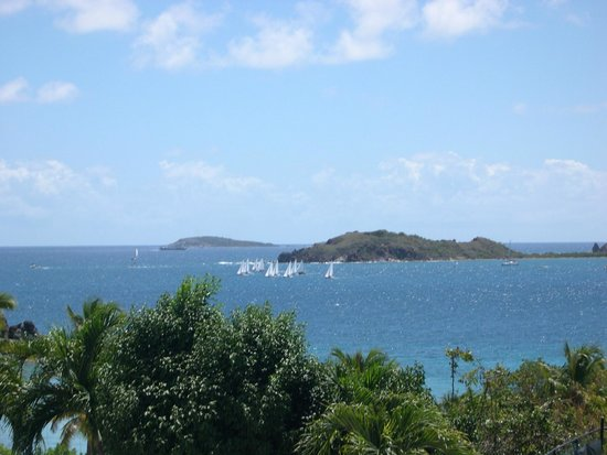 Harbour Beach Villas : View from the beautiful condos on the hill above Secret Harbor, St Thomas