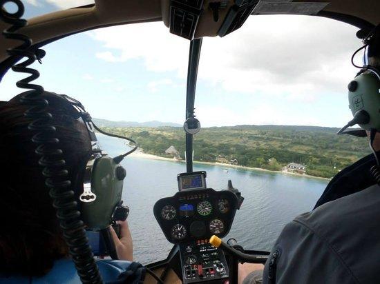 The Havannah, Vanuatu: arriving by helicopter