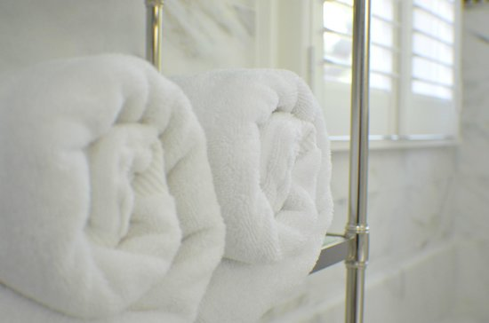 Stone Porch by the Lake: Luxurious Turkish Bath Towels